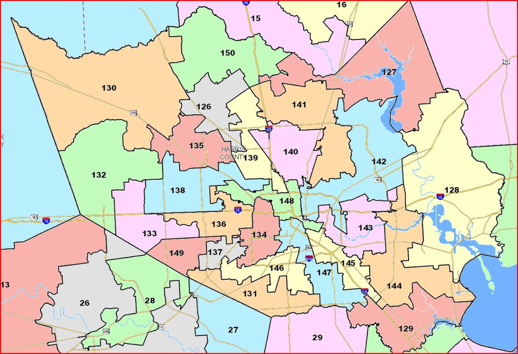 Harris County Texas Precinct Map My Blog - Texas state map by county