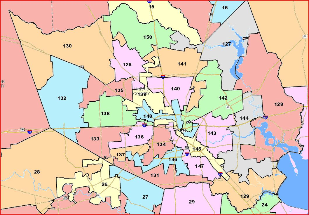 Redistricting Committee Votes Out State House Map Off The Kuff - Texas state map by county