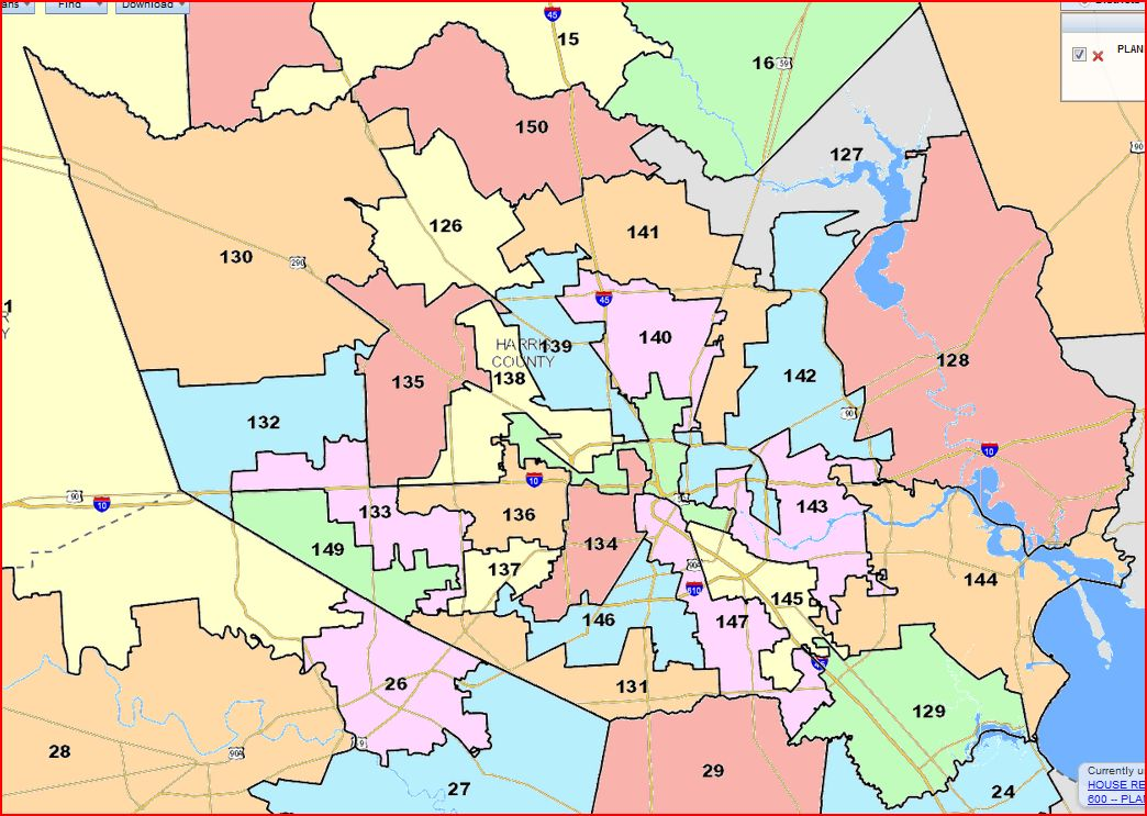 Chron Story About The House Redistricting Map Off The Kuff - Map houston harris county
